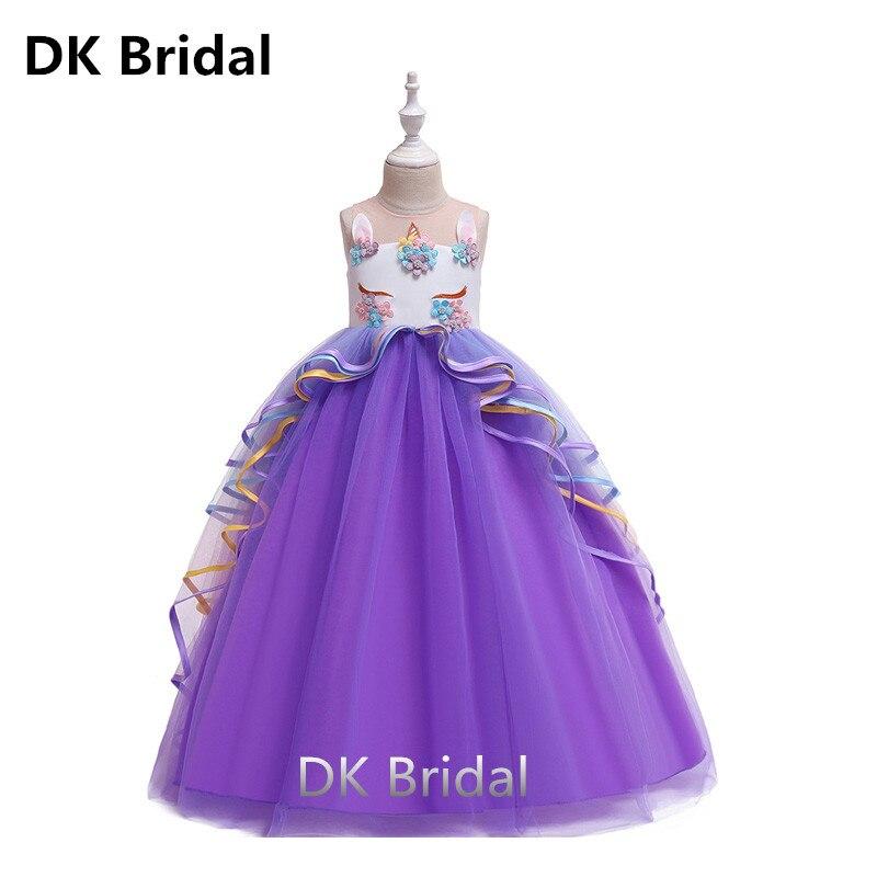 Flower     Girl's   Birthday Banquet Stitching   Dress   Elegant   Flower     Girls     Dress     Girls  ' Performing   Dresses   Ball Gown Prom Princess