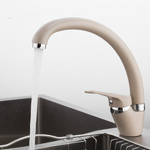 Brass 5 color Kitchen sink faucet Mixer Cold And Hot Single Handle Swivel Spout Kitchen Water Sink Mixer Tap Faucets YiDLO yidlo tap kitchen faucet 360 degree swivel stainless steel kitchen sink faucet single handle hot and cold mixer sink faucet