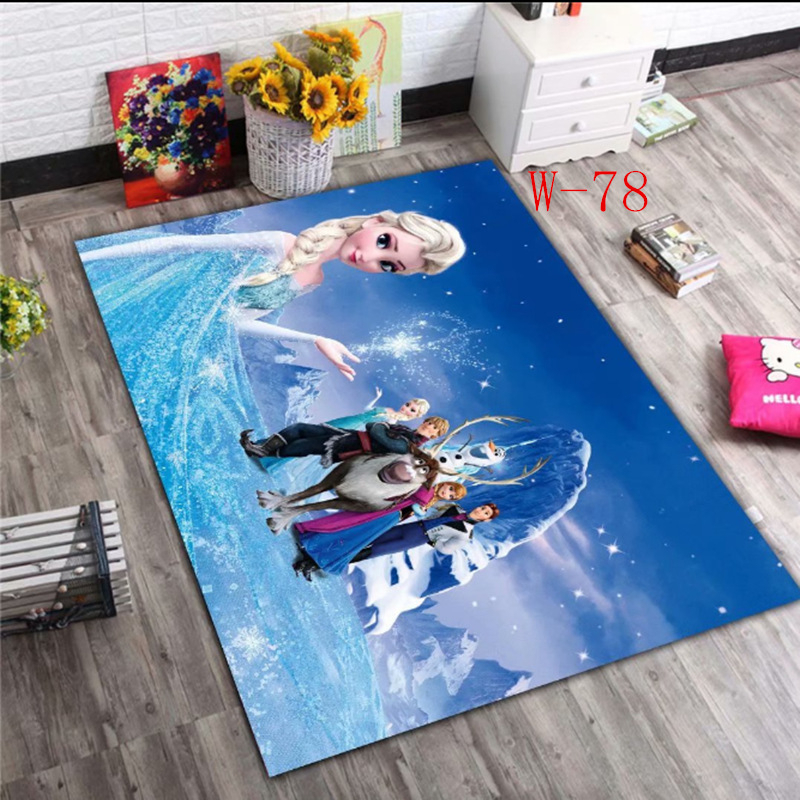 Disney Frozen Elsa Anna Rug Princess Cute Children Room Carpet Door Mat Girl Bedroom Living Room Blanket Kids Baby Crawling Mat
