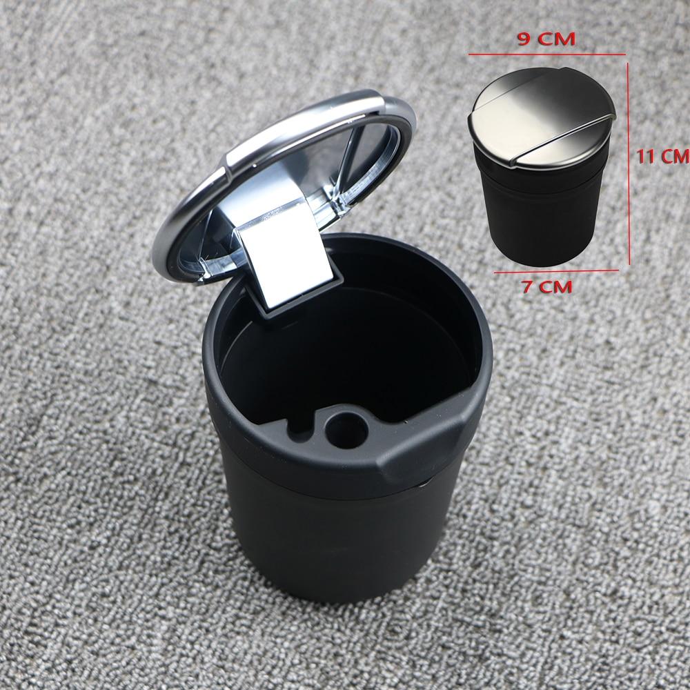 Chrome Lid Cup Holder Ashtray Large Size For Audi Car Q3 Q5 Q7 A3 A4 A5 A6 A8 A7