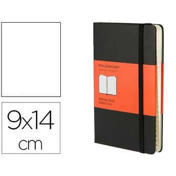 MOLESKINE notebook hard cover index 192 sheets black COLOR closure with rubber 90X140 MM