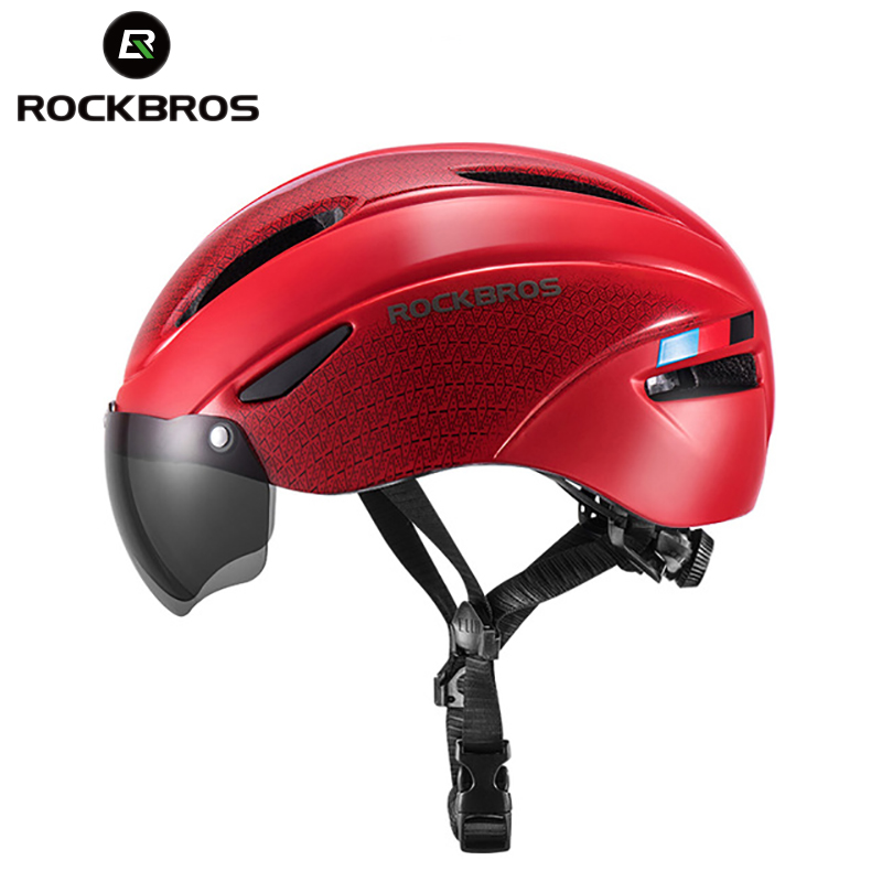 ROCKBROS Bicycle Helmet Women Men Goggles Cycling Helmets EPS Integrally molded Breathable Safety Aero MTB Road Bike Helmet Bicycle Helmet     - title=