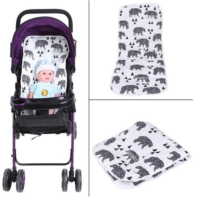 Baby Stroller Seat Cushion Pad Reversible Pure Cotton Universal Baby Seat Liner For Pushchair Pram Baby Stroller Accessories Mat