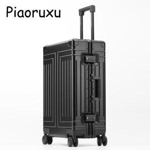 Image 3 - Maleta con varilla de tracción de aleación de aluminio 100%, equipaje de metal de 20 pulgadas, a la moda, nuevo tipo de maleta, caja de varilla de tracción para equipaje