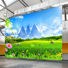 Photo Wallpapers Beautiful Grassland Flowers Modern Large Mural Living Room TV Background Wall Sticker Home Decor Wall Covering(China)