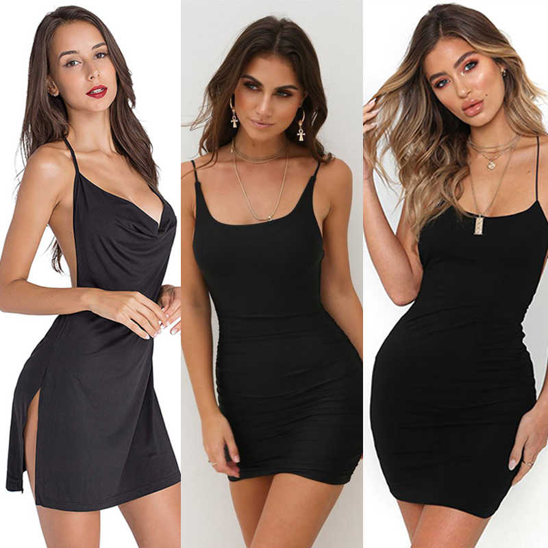 2020 여름 드레스 Vestidos Womens 민소매 Bodycon Backless Clubwear 솔리드 블랙 드레스 Slim Commuter Strapless Dress Femme