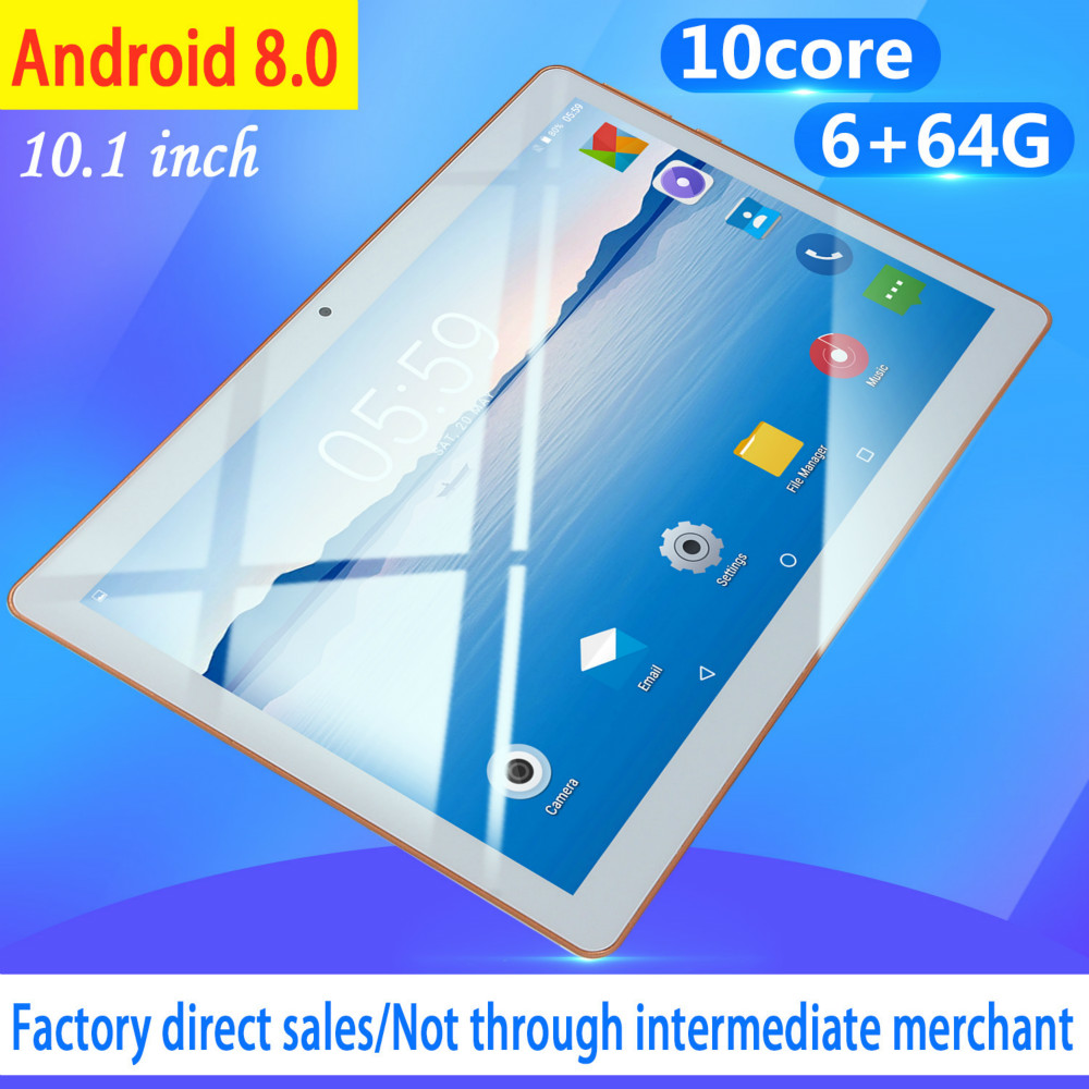 2020 New 10 Inch Android 8.0 RAM 6GB ROM128GB Android Tablet  Dual Card Dual Camera Bluetooth WiFi Dual Camera Kids Tablet