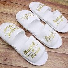 1 par de zapatillas suaves de spa para dama de honor o despedida de soltera