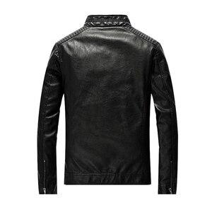 Image 3 - 2020 חדש עור מפוצל מעיל גברים בגדי Streetwear שטף צמר אופנוע עור מעיל אופנה מפציץ מקרית מעיל דרעי Mont