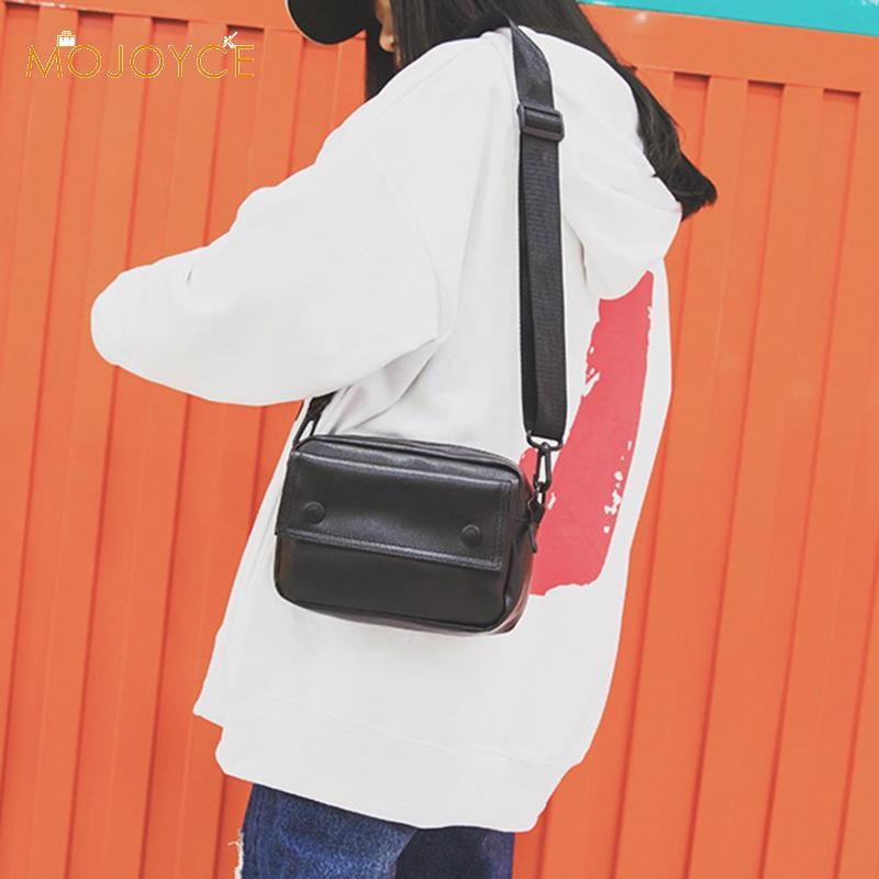 Fashion Solid Color Shoulder Messenger Bag Women Crossbody Bag PU Leather Solid Color Wide Shoulder Handbag Dropshipping