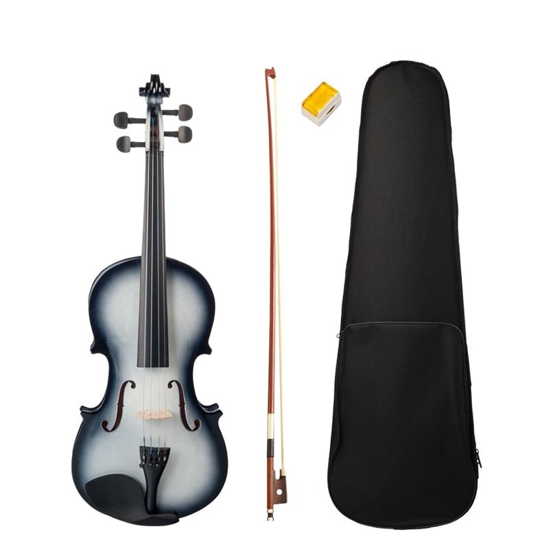 4/4 Violin High Gloss Finish 4/4 Violin Black And White Beginner Violin