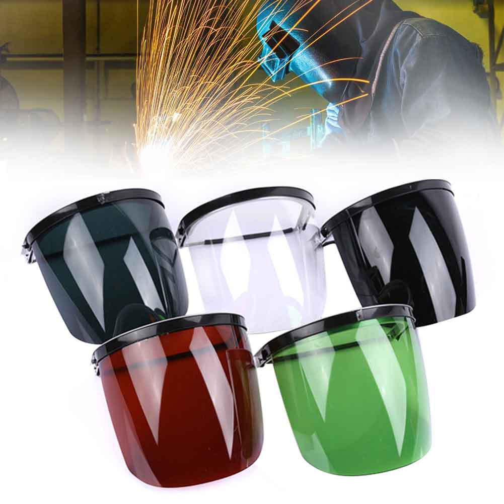 Guard Full Face Safety Soldering Anti Splash Protective Mask Portabe Brush Cutter Welding Helmet Tool Electric Head-mounted Hat