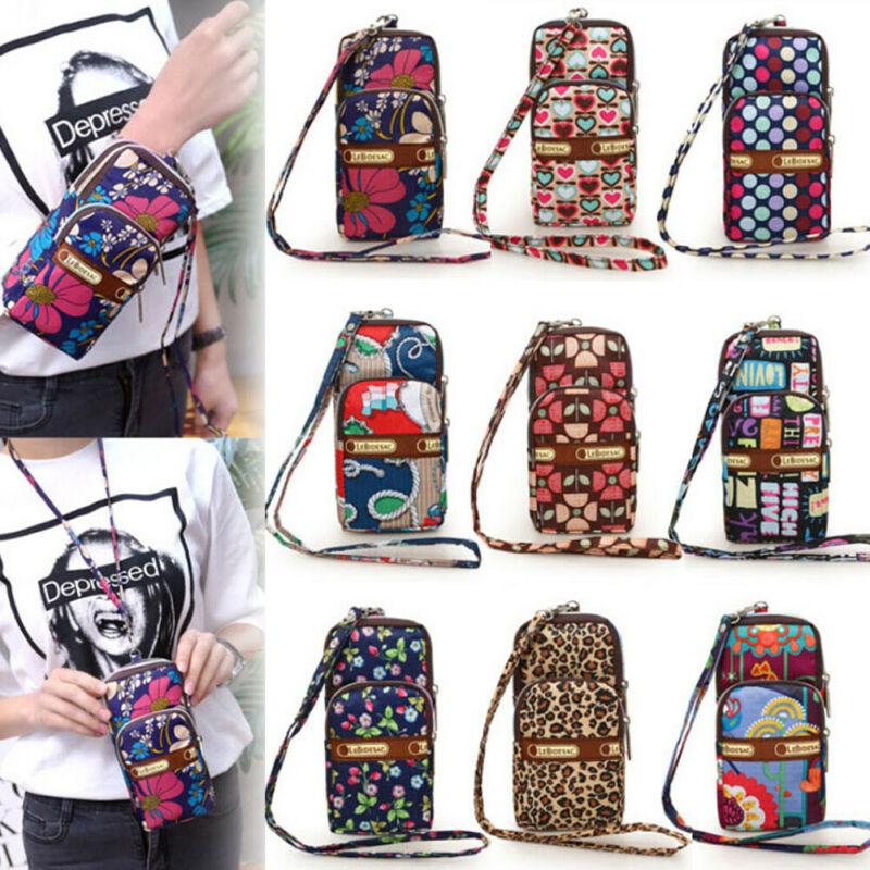 Women Multi-color Sports Mini Bag Cellphone Pouch Wallet Mobile Phone Bag Crossbody Shoulder Bags Purses