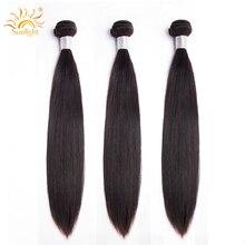 Перуанские прямые волосы пучки 1b# Солнечный свет человеческих волос пучки волос 1/3/4 шт. человеческие волосы пучки волос плетение 10-28 не Волосы remy волос для наращивания
