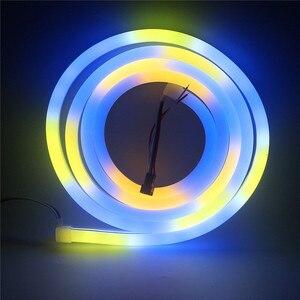 1903 3838IC elastyczna taśma LED Neon guma wodoodporny pasek światła WS2812B 5V inteligentne adresowalne Pixel Neon LED miękkie oświetlenie fluorescencyjne