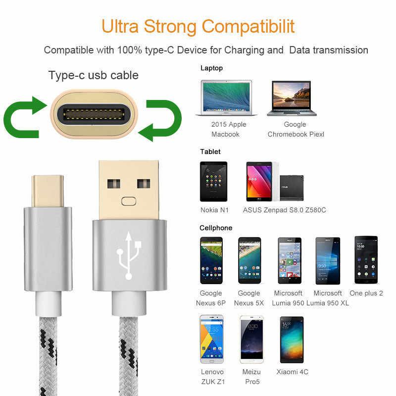 Tốt 3A Cáp USB Type C Dành Cho Samsung Xiaomi Redmi Note 7 Mi 9T Sạc Nhanh Dây USB-C Sạc điện Thoại Di Động USB C Loại-C