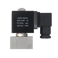 0~300 bar stainless steel high pressure solenoid valve electromagnetic solenoid valve 1/4 electrovalve AC 220v 24v BSP/NPT