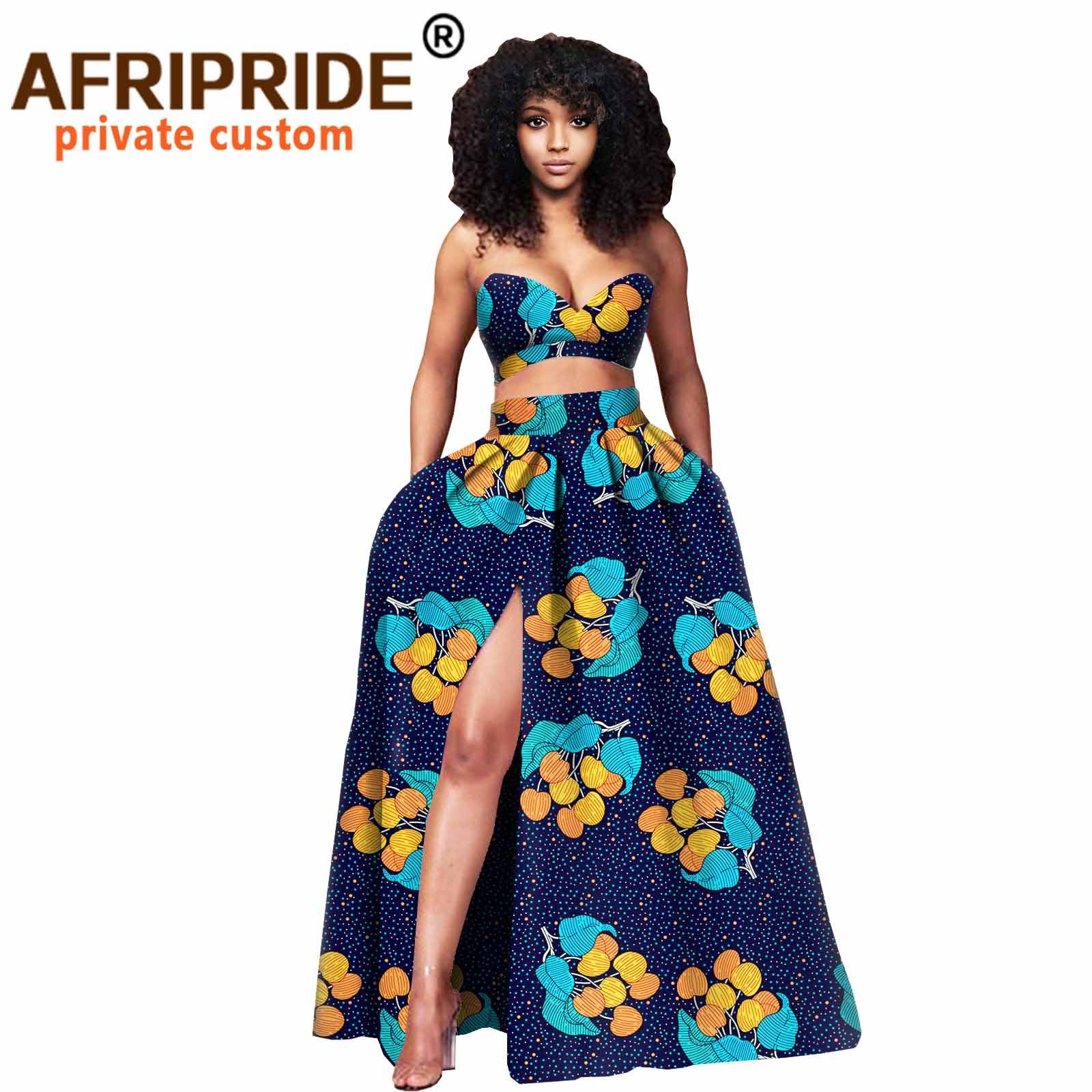 Женская одежда в африканском стиле укороченный топ и юбка макси
