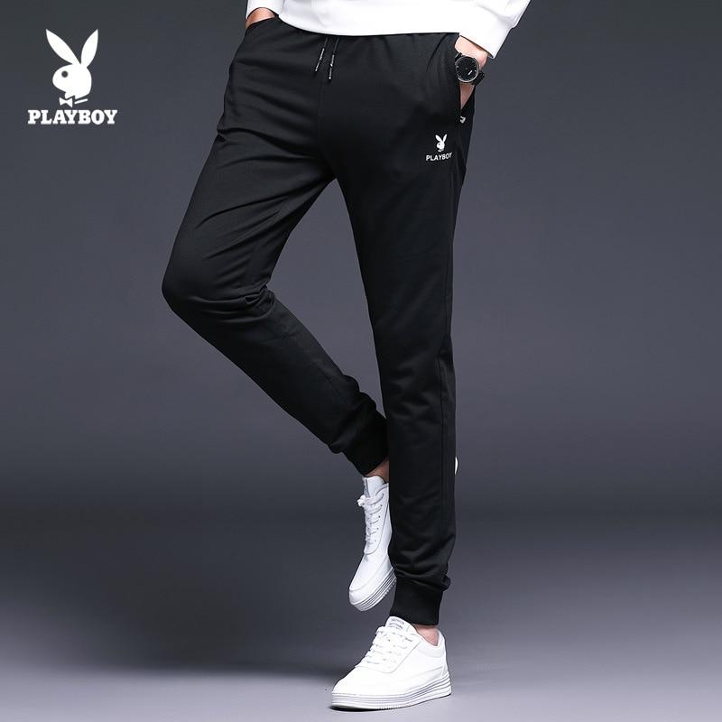 Agent PLAYBOY Fashion Men Korean-style Slim Fit Elasticity Casual Skinny Pants Men's
