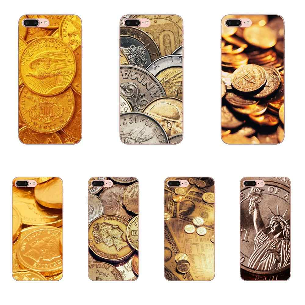 Для Xiao mi 3 mi 4 mi 4C mi 4i mi 5 mi 5s 5X6 6X8 SE Pro Lite A1 Max mi x 2 Note 3 4 TPU чехол Мобильный модный Биткойн монеты денег