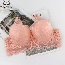 Bralette Lingerie Bras Adjusted-Straps Floral Lace Sexy Underwired Women Fashion Xiushiren