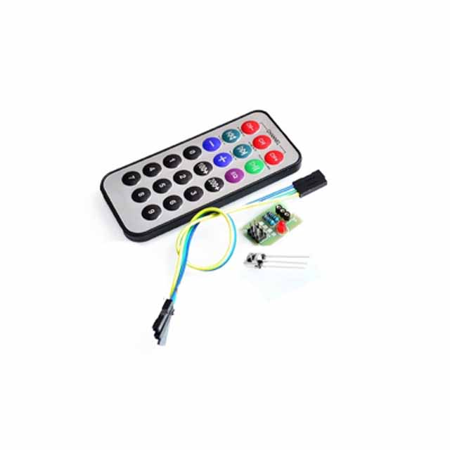 3-piece set, single-chip microcomputer infrared remote control module + receiving head <font><b>HX1838</b></font>+NEC coded infrared remote control image