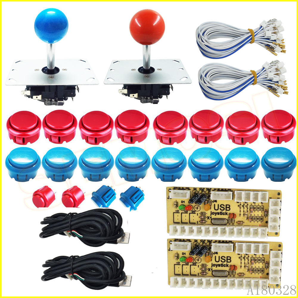 Zero Delay Arcade DIY Part kit USB Encoder Control for Rapsberry Pi and PC with Arcade Button Joystick