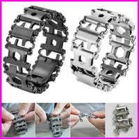 29 in 1 Multitool Armband Multifunktionale Schraubendreher Männer Outdoor Gespleißt Tragen Werkzeug Hand Kette Armband Überleben Klammer