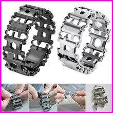 29 in 1 Multitool Bracelet Multifunctional Screwdriver Men Outdoor Spliced Wearing Tool Hand Chain Survival Brace