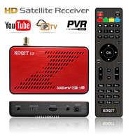 Koqit U2 DVB S2 Receptor de satélite DVB-S2 CS Receptor libre estafa de Biss vu iptv decodificador caja de tv satélite Wifi/RJ45 Sat Finder