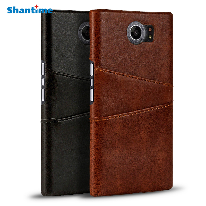 Luxury Retro Leather Cover For BlackBerry Priv Case Card Slots Back Cover Phone Case For BlackBerry Venice Case Cover(China)