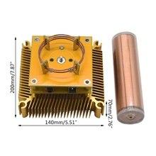 Tesla Coil Multi-functional Acrylic Base Shell Arc Plasma Loudspeaker Wireless Transmission Experiment Desktop