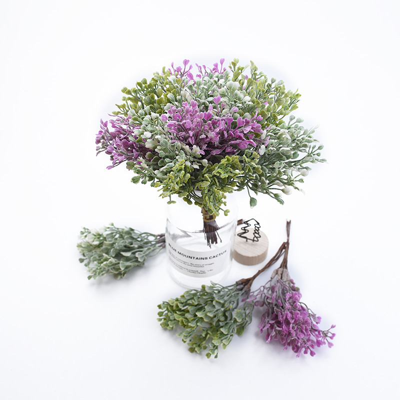6PCS Home Wedding Decoration Scrapbook Christmas Decorative Flower Wreath Artificial Plants Diy Garlands Material Fake Grass