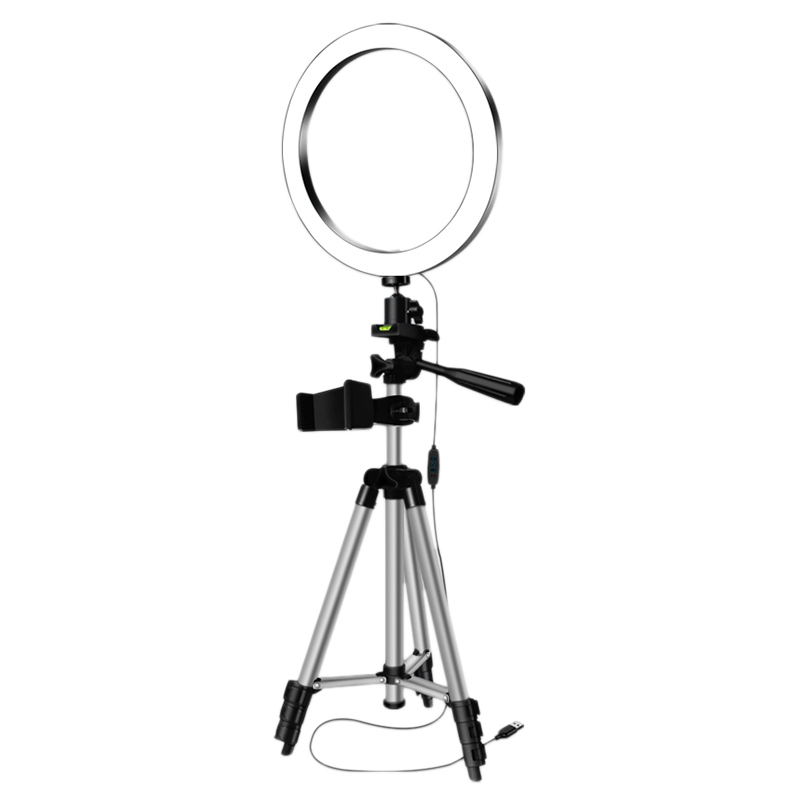 LED Selfie Ring Light With Phone Holder Photography Dimmable Youtube Video Live Photo Studio Light USB Plug