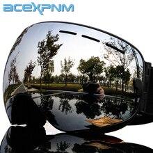 ACEXPNM лыжные очки двухслойные УФ-Защита Анти-туман снегоход большая Лыжная маска очки для катания на лыжах мужчины женщины снег сноуборд очки