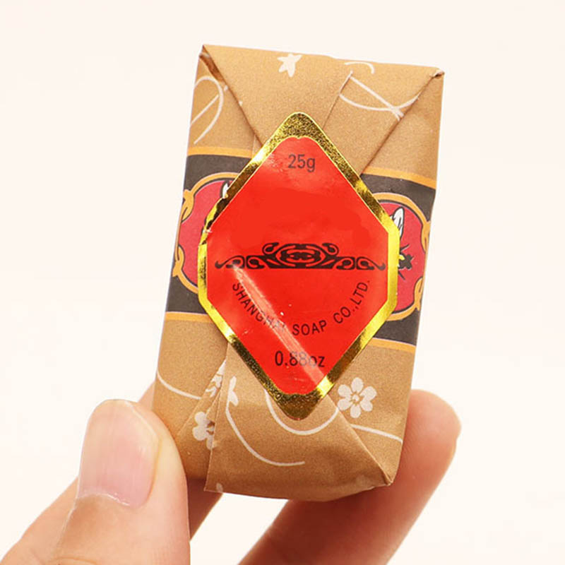 25g Mini Soap Bee Flower Sandalwood Acne Soap Bath Removing Mites Travel Package Toilet Soaps FO Sale