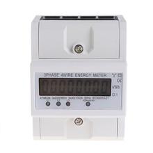 цена на Three Phase Four Wire LCD Digital Display Wattmeter Power Consumption Energy Meter kWh AC 230V 50-60Hz Electric Din Rail