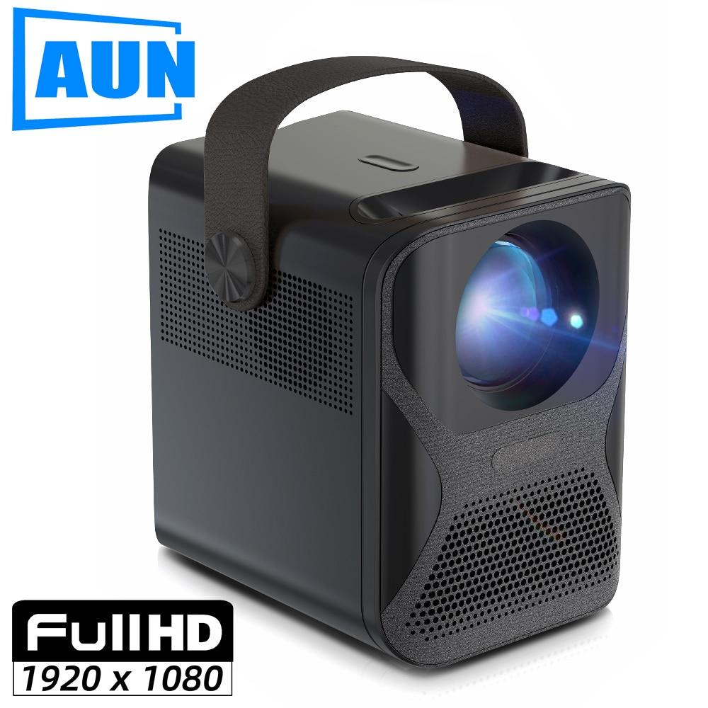 AUN ET30 Full HD проектор 1920x1080P Android мини-проектор c WIFI для дома Театр телефон светодиодный видео проектор с разрешением 4k декодирования 7800 мА-ч