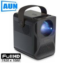 Aun et30 completo projetor hd 1920x1080p android wifi mini projetor para o telefone de cinema em casa led vídeo beamer 4k decodificação 7800mah