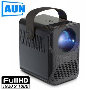 Aun completo hd projetor et30 opcional android 7800mah crianças portátil casa cinema mini led beamer 1920x1080p 4k vídeo via hdmi