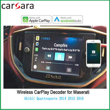 AndroidAuto Wireless CarPlay for Maserati Ghibli Quattroporte 2014 2015 2016 AirPlay Phonelink Box Car Eelectronic image