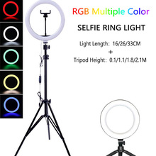 Ring-Lamp Tripod Photography-Lamp Selfie Round Youtube Tiktok Mobile-Phone with for Hoop