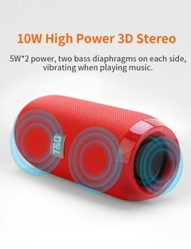 Outdoor Bluetooth Speaker Portable Bass Stereo Wireless Column Subwoofer Computer Speaker Support FM Waterproof Speakers 4