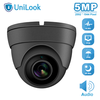 UniLook(Hikvison Compatible) 5MP IR Dome POE IP Camera Outdoor Security Audio CCTV Video Surveillance H.265 ONVIF IPC-D3150G-S 100% original 6mp dahua ip camera english firmware ir 80m h 265 ipc hfw4631m i2 ir cut hd1080p support poe dh ipc hfw4631m i2