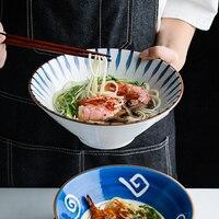 Japanese style Ceramic Soup Noodle Bowl Home Beef Noodle Bowl Vintage Fruit Salad Bowl