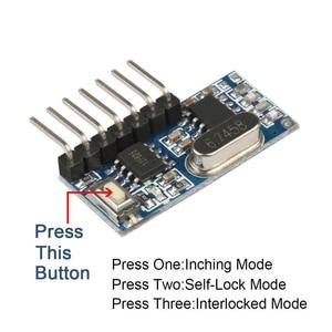 Image 5 - Rubrum decodificador de código de aprendizaje 433Mhz, 4CH RF, 4 botones, interruptor de Control remoto para Arduino Uno, módulo Smart Home