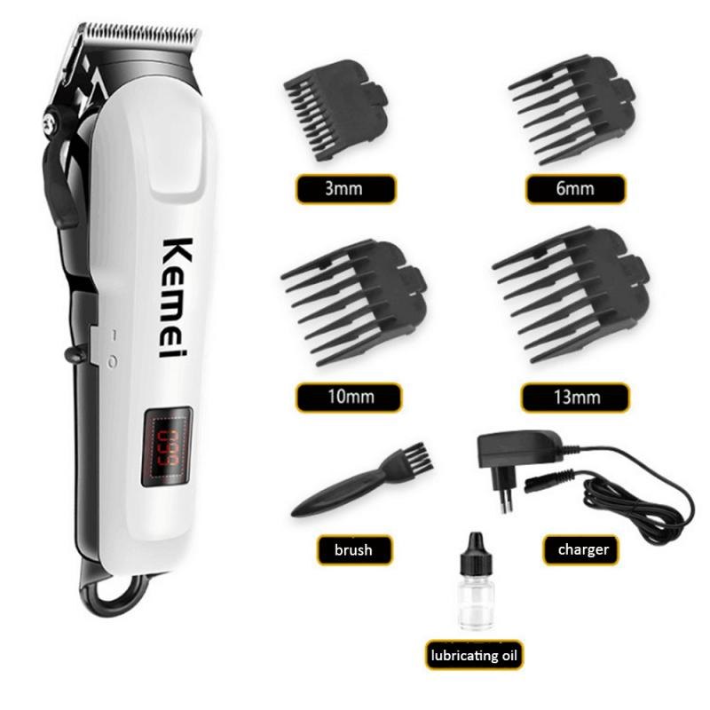Kemei KM-809A Professional Electric Hair Trimmers LCD Display Rechargeable Hair Clipper Barber Machine Tool YouTuBe HOT!