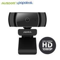 PAPALOOK-cámara Web AF925 1080P Full HD CMOS, autoenfoque con micrófono, USB, para videoconferencia, minicámara Web para PC, portátil y ordenador