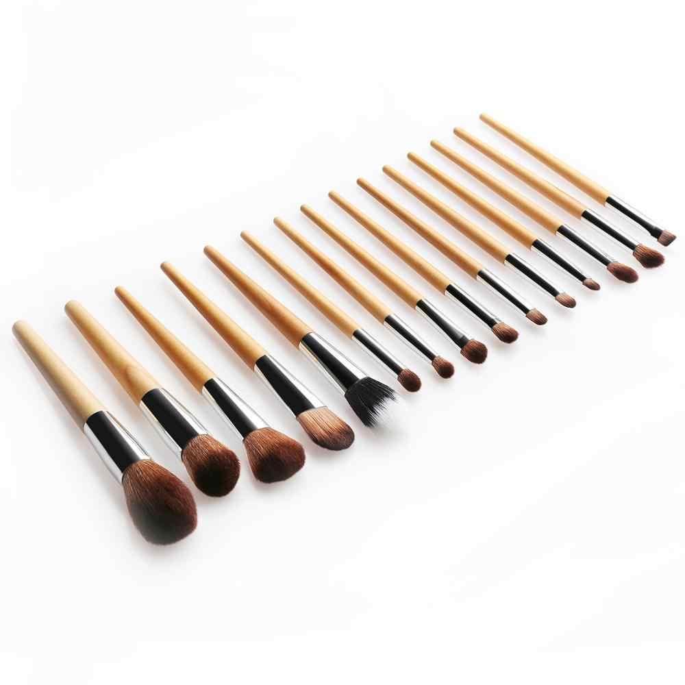 15 Buah Set Kuas Makeup Profesional Make Up Powder Brush Kuas Make Up Kit Eyeshadow Bibir Kecantikan Kosmetik Alat Kit