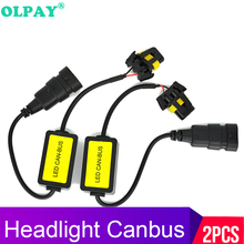 OLPAY HB3 HB4 H4 H8 H11 H3 H1 H7 LED Headlight Decoder CANBUS EMC Canceller Capacitor Anti-flicker Error Free Auto Accessories pair h4 hb3 hb4 led car headlight canbus decoders h7 h11 h13 anti flicker error free h1 h3 warning resistor canceller